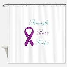 Cute Rape sexual assault awareness ribbon Shower Curtain