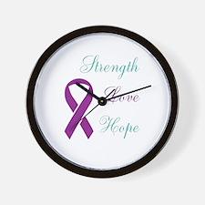 Cute Domestic violence ribbon Wall Clock