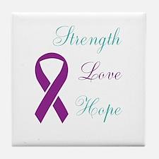 Cute Assault violence against women domestic Tile Coaster