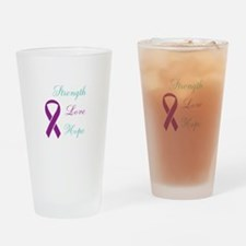 Funny Domestic violence sexual assault ribbon Drinking Glass