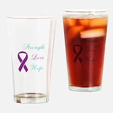 Cute Purple ribbon domestic violence Drinking Glass
