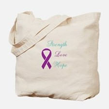 Cute Purple ribbon domestic violence Tote Bag
