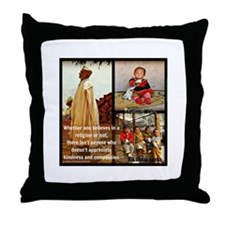 Kindness and Compassion: Dalai Lama Throw Pillow