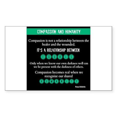 Compassion and Humanity: Pema Chödrön Sticker (Rec