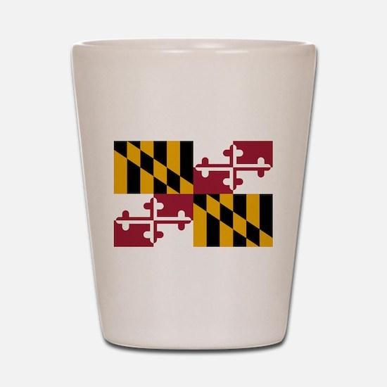 Maryland flag Shot Glass
