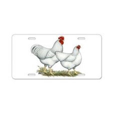 White Rock Chickens Aluminum License Plate