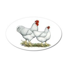 White Rock Chickens Wall Decal