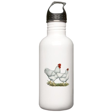 White Rock Chickens Stainless Water Bottle 1.0L