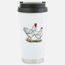 White Rock Chickens Stainless Steel Travel Mug