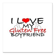 I love my Gluten Free Boyfriend Square Car Magnet