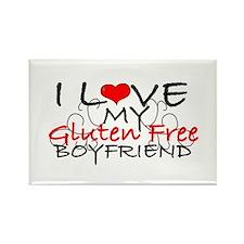 I love my Gluten Free Boyfriend Rectangle Magnet