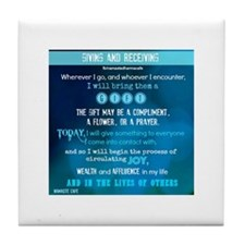Giving and Receiving Tile Coaster