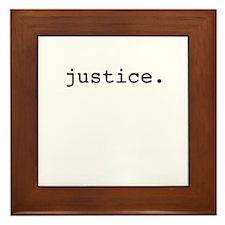 justice. Framed Tile