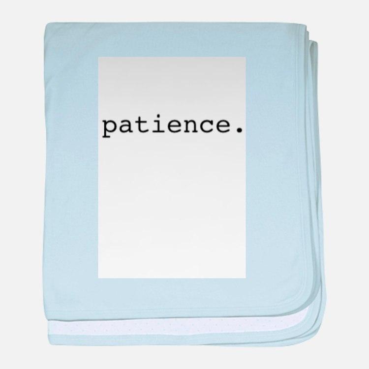 patience. baby blanket