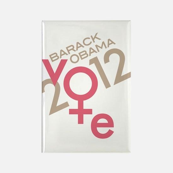 Women Vote Obama Rectangle Magnet