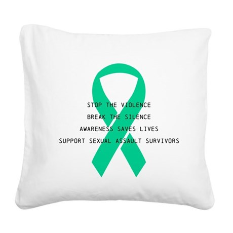 Stop the violence Square Canvas Pillow