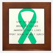 Stop the violence Framed Tile