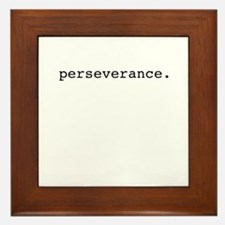 perseverance. Framed Tile