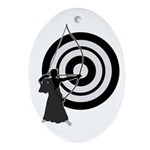 Kyudo man Ornament (Oval)