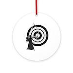 Kyudo man Ornament (Round)