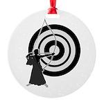 Kyudo man Round Ornament