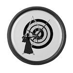 Kyudo man Large Wall Clock