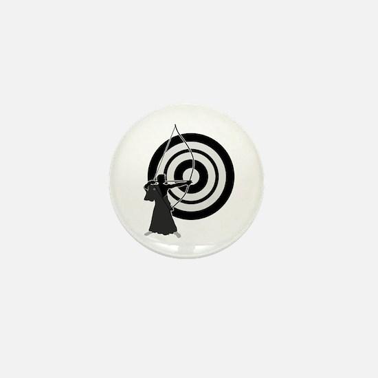 Kyudo man Mini Button