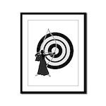 Kyudo man Framed Panel Print