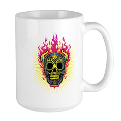 skull Dull Flames Mug