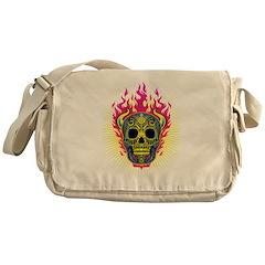 skull Dull Flames Messenger Bag