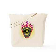 skull Dull Flames Tote Bag