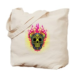 skull Dull Flames Tote Bag