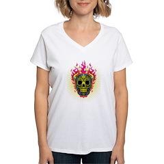skull Dull Flames Shirt