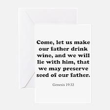 Genesis 19:32 Greeting Card