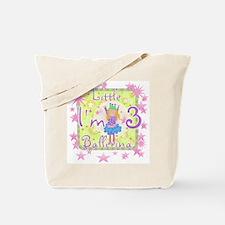 Little Ballerina 3rd Birthday Tote Bag