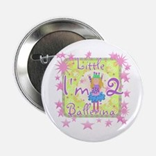 Little Ballerina 2nd Birthday Button