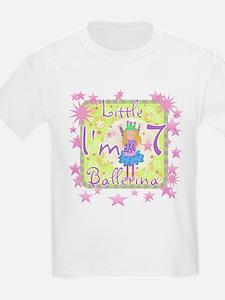 Little Ballerina 7th Birthday Kids T-Shirt