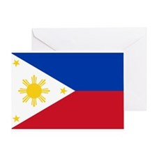 Philippine flag Greeting Card