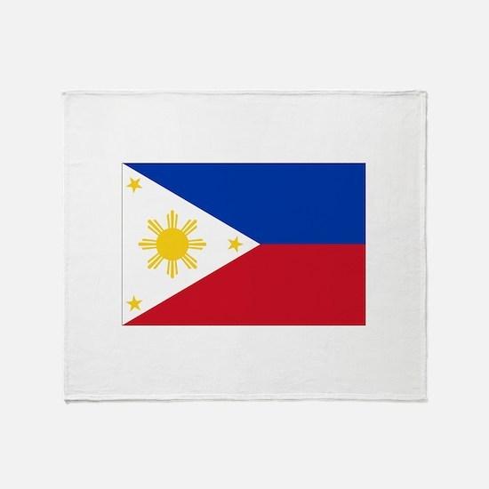 Philippine flag Throw Blanket