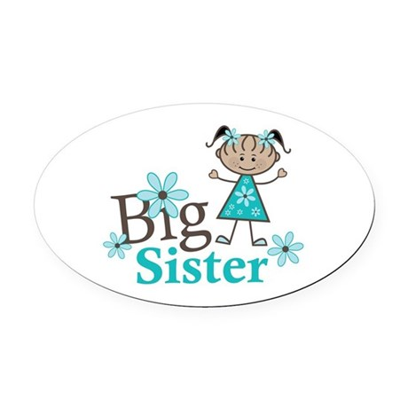 Ethnic Big Sister Oval Car Magnet