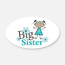 Ethnic Big Sister Oval Car Magnet