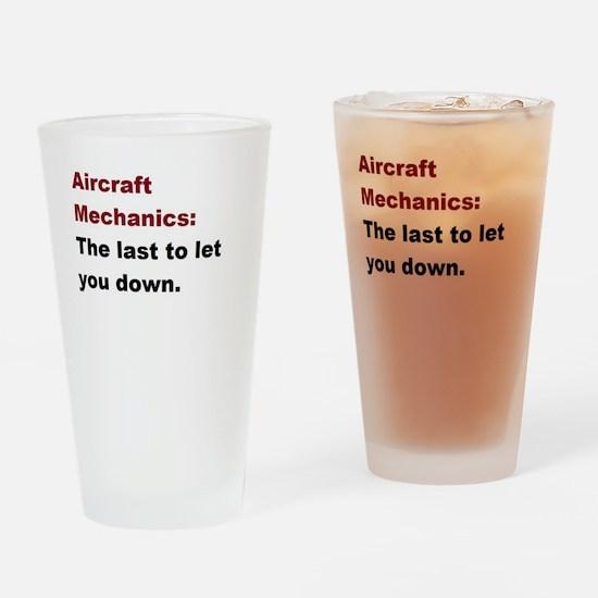 aircraft mech design 1 Drinking Glass