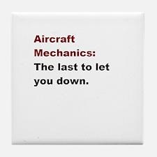 aircraft mech design 1 Tile Coaster