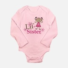 Ethnic Lil Sister Long Sleeve Infant Bodysuit