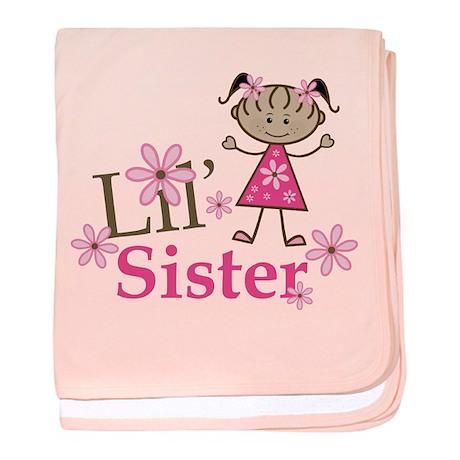 Ethnic Lil Sister baby blanket
