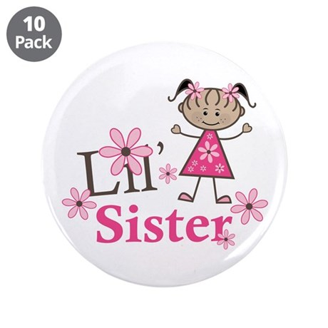"""Ethnic Lil Sister 3.5"""" Button (10 pack)"""