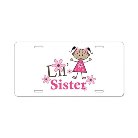 Ethnic Lil Sister Aluminum License Plate