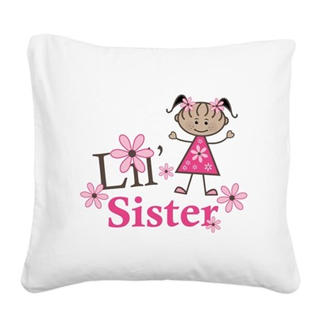 Ethnic Lil Sister Square Canvas Pillow