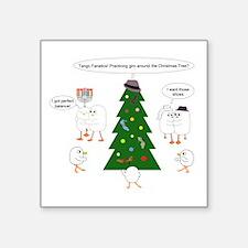 Christmas for Tango Fanatics Square Sticker 3&quot