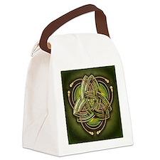Green Celtic Triquetra Canvas Lunch Bag